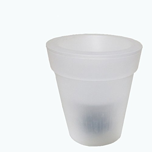 """Plástico macetas con luz LED solar flores olla urna de proyección 6""""decorativo para jardín LED maceta moderna maceta jarrón, blanco"""