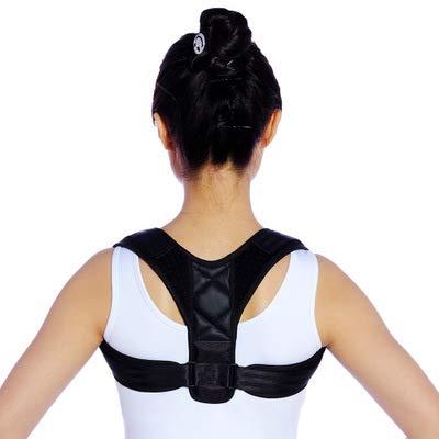 FCDYL-W Haltung-korrektor für Frauen männer einstellbar-freie größe Riemen komfortable obere hintere Klammer schlüsselbein unterstützung für untere & oberen rücken Schmerzen linderung-schwarz - Komfortable Riemen