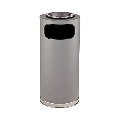 rubbermaid-fgso17suscgrgl-crowne-textured-gray-w-satin-chrome-accents-round-steel-waste