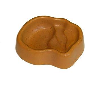 Namiba Terra 9505 Terra-Puzzle Keramik-Terrassen-Wassernapf, 16 x 13 cm, gelb glasiert