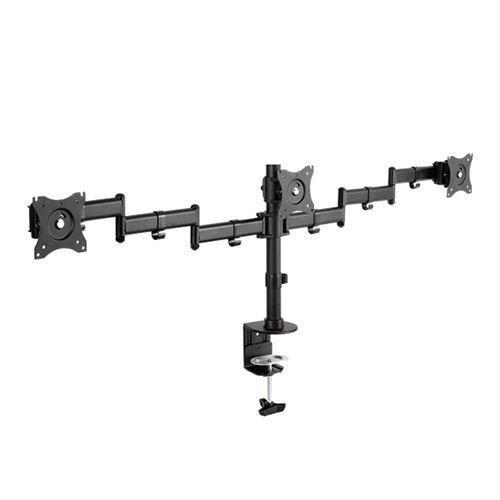 Triple 3 Fach Tischhalterung für LED und LCD Monitore bis 27 Zoll VESA 75x75 100x100 HALTERUNGSPROFI OFFICE-136 (3 Monitore)