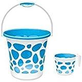 Cello Milton Duplex Bucket & Duplex Mug (25 Liters, Blue)