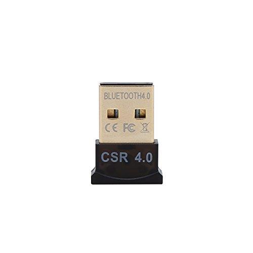 vitalitim Bluetooth 4.0USB Low Energy Micro Adapter Dongle für PC mit Windows 10/8.1/8/7/Vista/XP, Raspberry Pi, Linux und Stereo-Headset kompatibel (schwarz) (Raspberry Pi 2 Dongle)