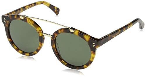 Stella mccartney sc0054s 001 occhiali da sole, marrone (001-avana/green), 50 unisex-adulto