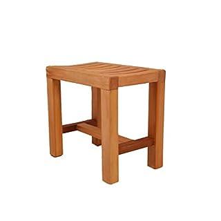 Wooden Anti-Slip Shower Stool, Bath Seat Stool For Elderly/Disabled
