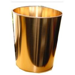 Papierkorb,glänzende Kupferfarbe