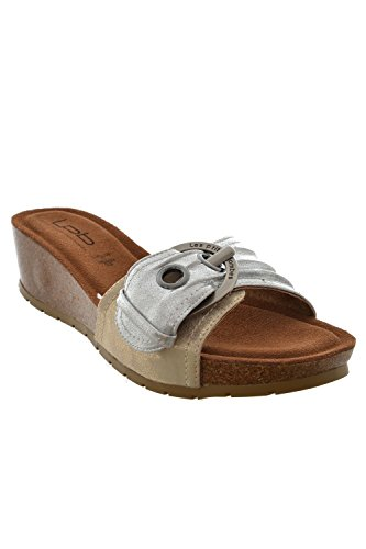 Sandali, nu les p'tites bombes piedi ninfea, colore: grigio, Grigio (grigio), 41