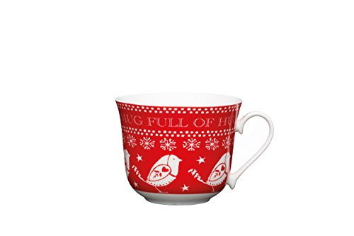 kitchen-craft-little-red-robin-tasse-plein-de-hugs-en-porcelaine-mug-de-noel-450-ml-rouge