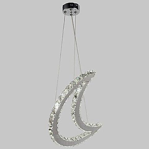 dee Crescent di figura di cristallo Quartet Beads Led Pendente