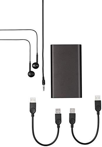 auvisio Aufnahmegerät: Digitale Voice-Recorder-Powerbank, geräuschaktivierte Aufnahme, 16 GB (Stimmenaufnahme Gerät)