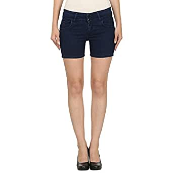 ROOLIUMS ® (Brand Factory Outlet Women's/Girls Basic Two Buttons Denim Short