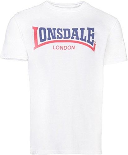 Lonsdale London T-Shirt TWO TONE 113170 Regular Fit, weiß (7000), Gr. S -