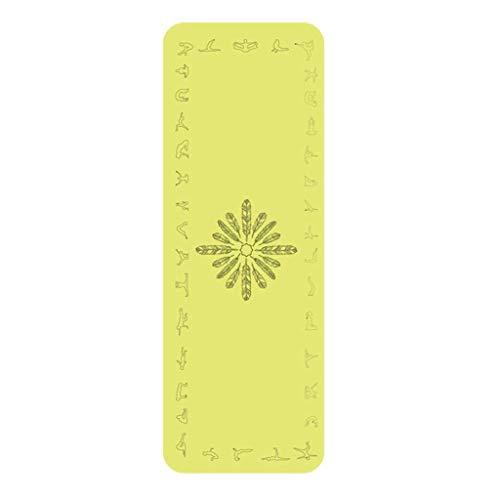YDS SHOP Fitness-Yoga-Matte/rutschfest/angenehm weich/Material Naturkautschuk/Pilates/Anfänger/Familiensport/Outdoor-Unterhaltung (Color : Yellow)