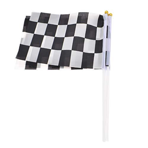 Hongma 5 Stück Rennflagge Zielflagge Hand gekränkte Fahne 1 Racing Banner