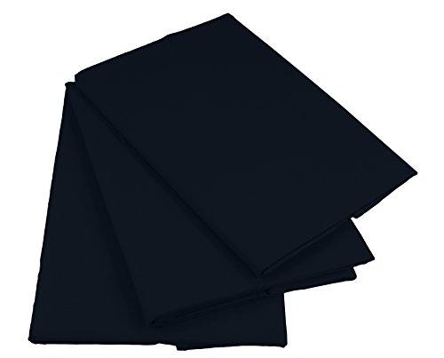 KMP Bettlaken Betttuch Haustuch 100% Baumwolle ohne Gummizug viele Uni Farben (160 x 200 cm, Schwarz)