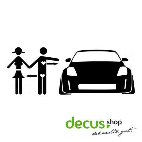 Decus JDM Love Nissan 350Z L 2073 // Sticker OEM JDM Style Aufkleber (Carbon Silber) (350z Carbon)