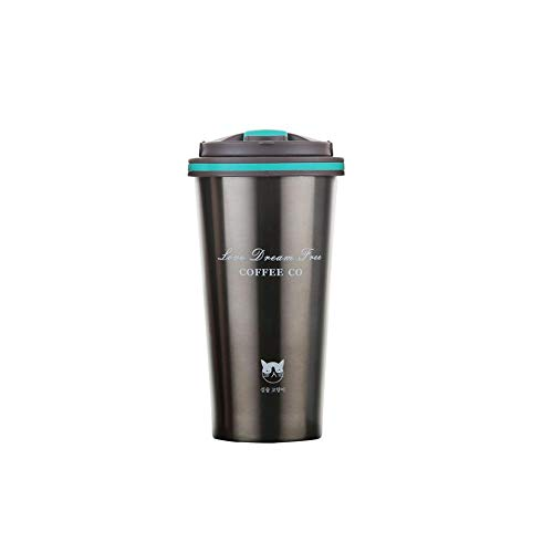 iBaste_S 500ml Acciaio Inossidabile Tazza di caffè per Uomini e Donne, Tazza Portatile per Studenti Tazza per Ufficio aspirapolvere Winter Warm Cup Home Necessities quotidiane