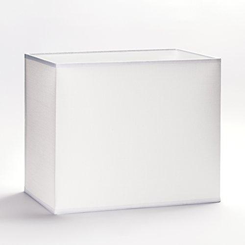 Lámpara Pantalla E27 rectangular blanco 32 cm 40 cm Lámpara de pie tela mesa rectangular, Weiß, 32x16cm (Höhe:18cm