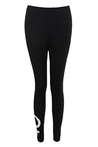 Femmes Noir Mikayla Legging Basique En Jersey À Symbole Noir