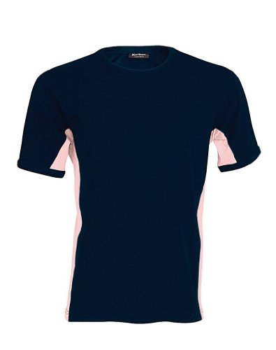 Kariban Modisches T-Shirt Tiger in Kontrastfarben Multicoloured - Navy/Pink