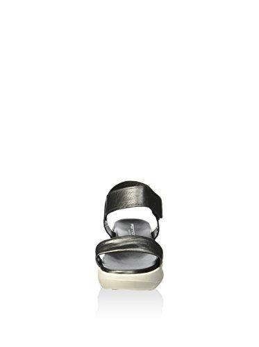 Fornarina Sandalo Zeppa Colore Acciaio Articolo PEFVH9510WMA9300 Nuova Collezione Primavera Estate 2016 PEFV H9510WMA 9003 Acciaio