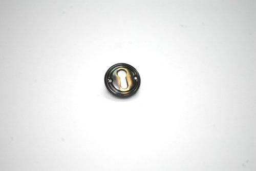 Möbelschild Schlüsselschild Schrankschlüsselschild Metall brüniert Durchmesser 29 mm