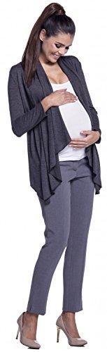 Zeta Ville - Maternité cardigan grossesse maille fine sans boutons - femme 953c Graphite Mélange