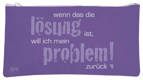 Rannenberg knautschi pochette pour sac trousse à maquillage avec inscription en allemand'ich a certes aucune solution 20 x 11 cm