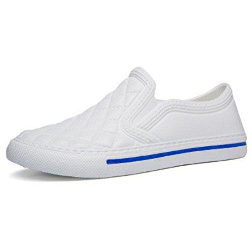 Men's Zapatos Hombre Slip On Outdoor Casual Shoes LA603M white