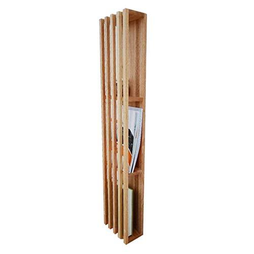 Ayha libreria in legno massello soggiorno libreria sospesa scaffale portariviste ora casa scaffale a pavimento per camera da letto,legno colore,20 * 11 * 102cm