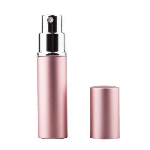 TRIXES Atomiseur spray 5 ml rose, facile à remplir, pour parfum ou après-rasage
