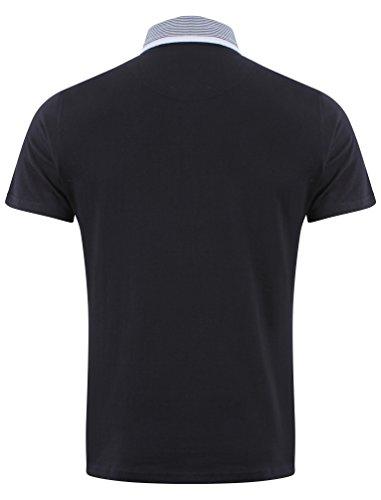 D-Code Herren Terling Baumwolle Polo-Shirt Größe S- XL Dunkel Marineblau