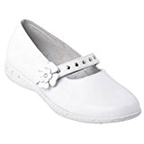Boomers mermaiden-Ballerina comunione scarpa, Bianco (bianco), 32
