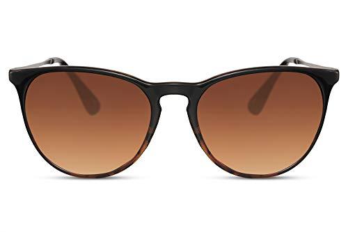 Cheapass Sonnenbrille Glänzender Braun zu Turtle Rahmen Gradient Braune Gläser Vintage UV400 Schutz Männer Frauen