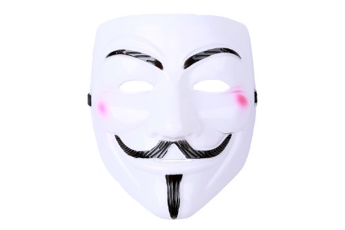 Halloween Cosplay Kostüm V for Vendetta Kunststoff-Maske Guy Fawkes Cool Cosplay Accessories ()