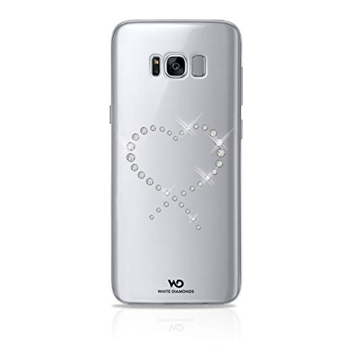 White diamonds swarovski vetro eternity – cover per samsung galaxy s8 plus, trasparente