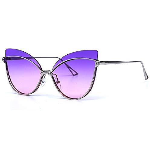 GXM-FR Polarisierte Sonnenbrille, Damen-Metallrahmen, Marine-Linse, V400-Blendschutz, Müdigkeitsschutzbrille, Radfahren im Freien, Sport, Straßenschießbrille,B