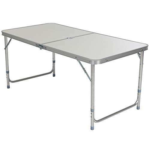 CHENGGUO Table Pliante Multifonctions extérieure, Table Pliante en Aluminium de Voyage, Table Pliante Multifonctions Portable à Hauteur réglable et Jeu de chaises (Couleur : Blanc, Taille : A)