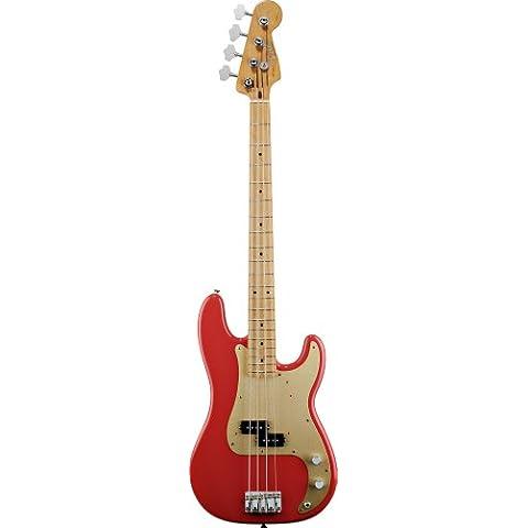 Fender 013170234050s Precision Bass arce diapasón guitarra eléctrica–fiesta rojo