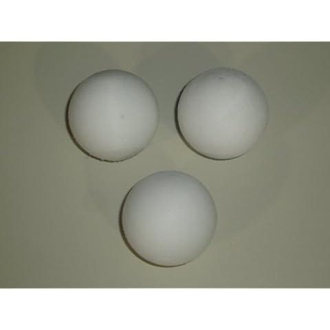 Garlando - Conjunto de 3 balones de futbolín en color blanco (diámetro: 36 mm)