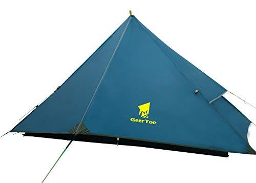 GEERTOP 1 Person Backpacking Zelt 4 Saison Einzel Outdoor Leichte Wasserdichte Camping Zelt für Bergsteigen Wandern Reise -