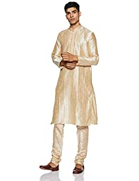 Manyavar Men's Full Sleeve Blended Kurta & Churidar Set (S952156)