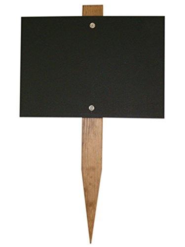Chalkboards UK Mini Lavagna palo da Giardino Legno Nero 150x 105