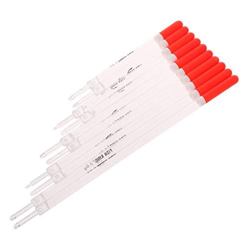 Watermk 10 Teile/LOS 0,7 g / 1,5 g / 2,0 g / 2,5 g / 3,0 g Durchsichtigen Kunststoff Fischen Float Karpfen/Grobfischen Schwimmt Rohr Mix Größen