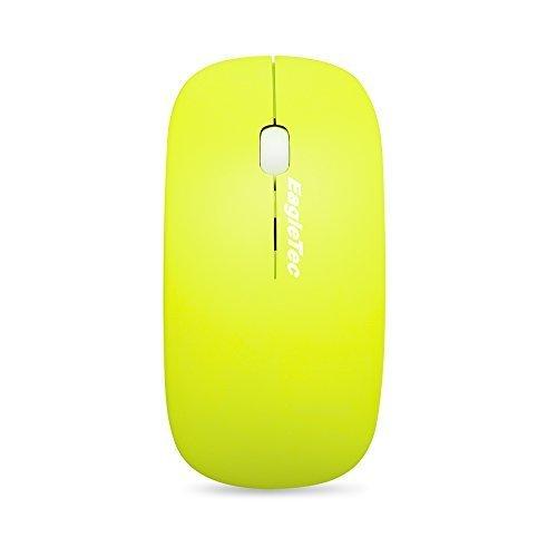 EagleTec M122 2.4GHz Schnurlose optische 3 Tasten Maus, anpassbare Auflösung 800/1200/ 1600 DPI, mit Nano USB Empfänger (M122-Grün)