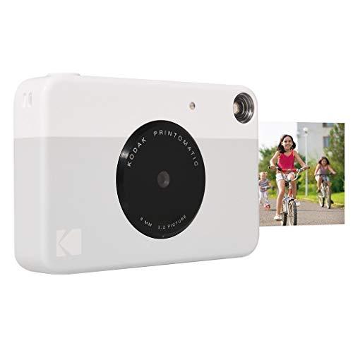 Kodak Printomatic - Cámara de impresión instantánea, Imprime en Papel Zink 5 x 7.6 cm con Respaldo Adhesivo, Gris