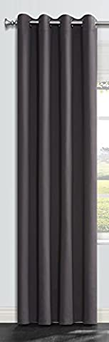OnlyYou Thermal Insulated Eyelet Blackout Curtain, Room Darkening Window Treatment Drapes for Bedroom, Living Room and Kids Room, 1 Piece 135 x 229 cm - Dark Grey - Camo Tenda Oscurante