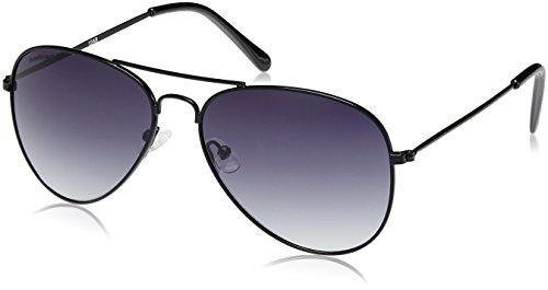 Fastrack UV Protected Aviator Sunglasses (M138BK1/67/Black )