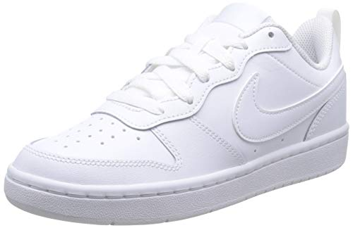 Nike Herren Court Borough Low 2 (GS) Basketballschuhe, Weiß (White/White/White 100), 39 EU
