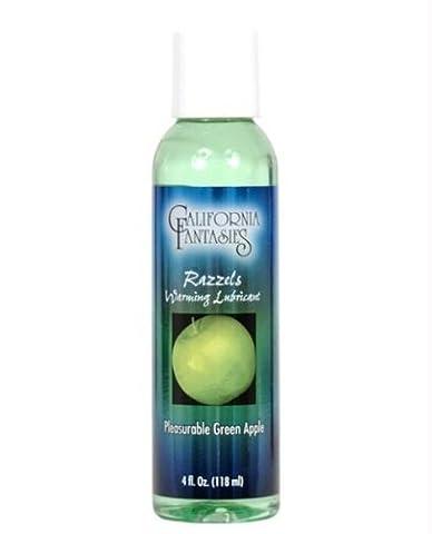 California Fantasies Razzels Flavored Warming Lubricant, 4 oz, Green Apple by California Fantasies